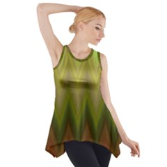 Zig Zag Chevron Classic Pattern Side Drop Tank Tunic