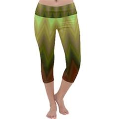Zig Zag Chevron Classic Pattern Capri Yoga Leggings
