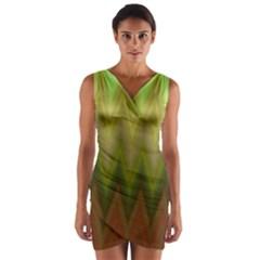 Zig Zag Chevron Classic Pattern Wrap Front Bodycon Dress