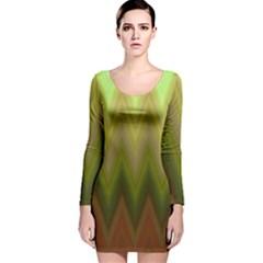 Zig Zag Chevron Classic Pattern Long Sleeve Velvet Bodycon Dress