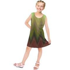 Zig Zag Chevron Classic Pattern Kids  Tunic Dress