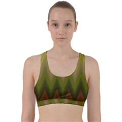 Zig Zag Chevron Classic Pattern Back Weave Sports Bra