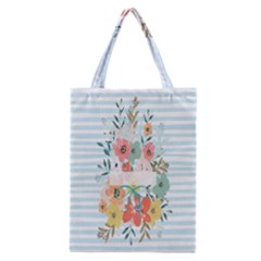 Watercolor Bouquet Floral White Classic Tote Bag