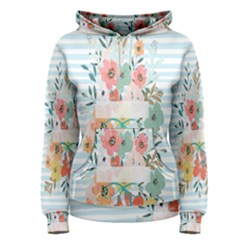Watercolor Bouquet Floral White Women s Pullover Hoodie