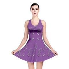 Pig Star Pattern Wallpaper Vector Reversible Skater Dress