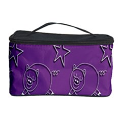 Pig Star Pattern Wallpaper Vector Cosmetic Storage Case
