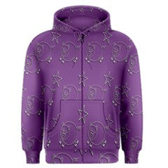 Pig Star Pattern Wallpaper Vector Men s Zipper Hoodie