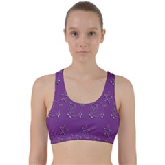 Pig Star Pattern Wallpaper Vector Back Weave Sports Bra