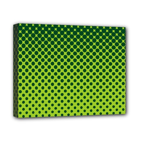Halftone Circle Background Dot Canvas 10  X 8