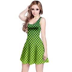 Halftone Circle Background Dot Reversible Sleeveless Dress