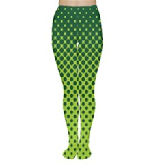 Halftone Circle Background Dot Women s Tights