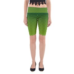 Halftone Circle Background Dot Yoga Cropped Leggings