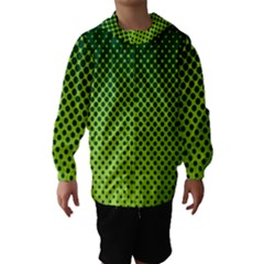 Halftone Circle Background Dot Hooded Wind Breaker (kids)