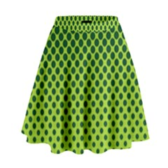 Halftone Circle Background Dot High Waist Skirt