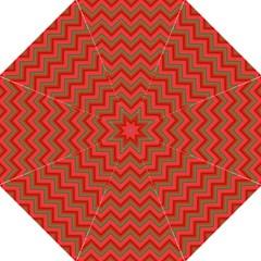 Background Retro Red Zigzag Golf Umbrellas