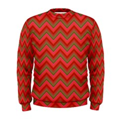 Background Retro Red Zigzag Men s Sweatshirt