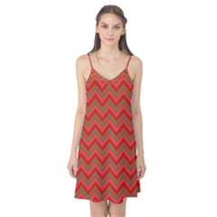 Background Retro Red Zigzag Camis Nightgown