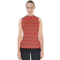Background Retro Red Zigzag Shell Top