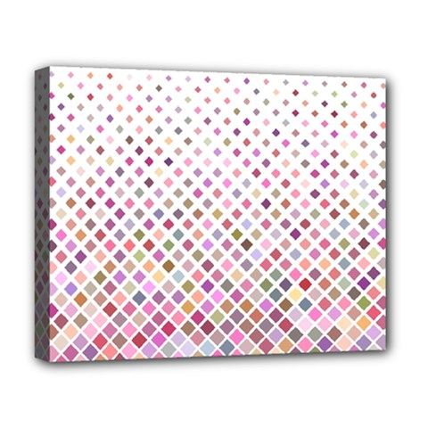 Pattern Square Background Diagonal Deluxe Canvas 20  X 16