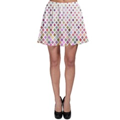 Pattern Square Background Diagonal Skater Skirt
