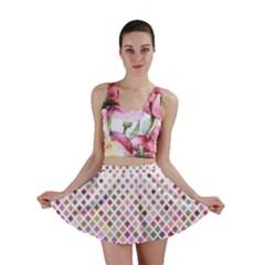 Pattern Square Background Diagonal Mini Skirt