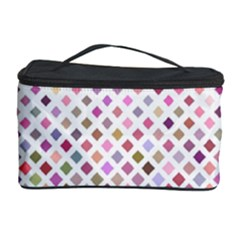 Pattern Square Background Diagonal Cosmetic Storage Case