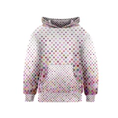 Pattern Square Background Diagonal Kids  Pullover Hoodie