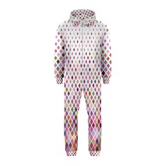 Pattern Square Background Diagonal Hooded Jumpsuit (kids)