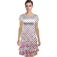 Pattern Square Background Diagonal Cap Sleeve Nightdress