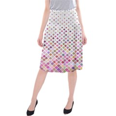 Pattern Square Background Diagonal Midi Beach Skirt