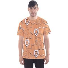 Lion Pattern Wallpaper Vector Men s Sports Mesh Tee