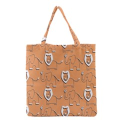 Lion Pattern Wallpaper Vector Grocery Tote Bag