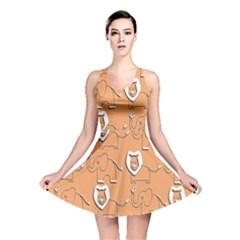 Lion Pattern Wallpaper Vector Reversible Skater Dress