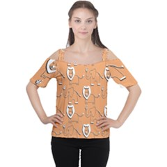 Lion Pattern Wallpaper Vector Cutout Shoulder Tee