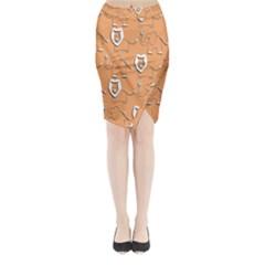 Lion Pattern Wallpaper Vector Midi Wrap Pencil Skirt