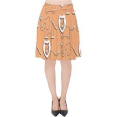 Lion Pattern Wallpaper Vector Velvet High Waist Skirt