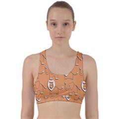 Lion Pattern Wallpaper Vector Back Weave Sports Bra