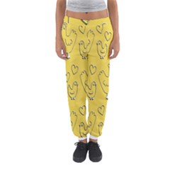 Chicken Chick Pattern Wallpaper Women s Jogger Sweatpants