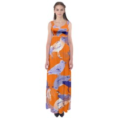 Seagull Gulls Coastal Bird Bird Empire Waist Maxi Dress