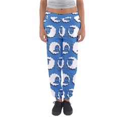 Sheep Pattern Wallpaper Vector Women s Jogger Sweatpants