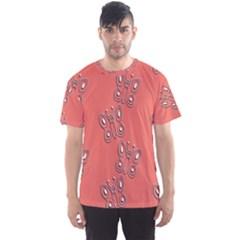 Butterfly Pink Pattern Wallpaper Men s Sports Mesh Tee