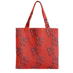 Butterfly Pink Pattern Wallpaper Zipper Grocery Tote Bag