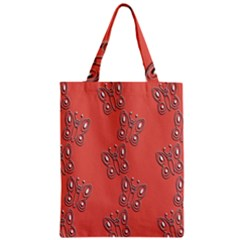 Butterfly Pink Pattern Wallpaper Zipper Classic Tote Bag