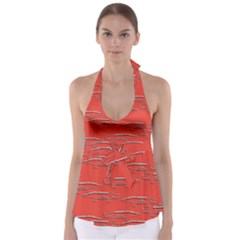 Crocodile Alligator Pattern Babydoll Tankini Top