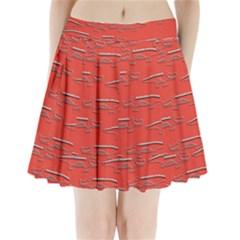 Crocodile Alligator Pattern Pleated Mini Skirt