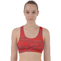 Crocodile Alligator Pattern Back Weave Sports Bra