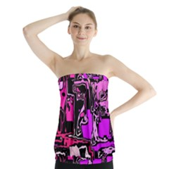 Modern Abstract 47b Strapless Top