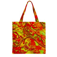 Modern Abstract 44a Zipper Grocery Tote Bag