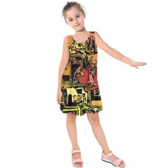 Modern Abstract 47c Kids  Sleeveless Dress