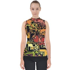 Modern Abstract 47c Shell Top